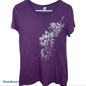 Hot Leathers Ride Forever Purple Tee
